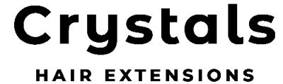 Crystals Hair Extensions Nicosia Cyprus Logo black
